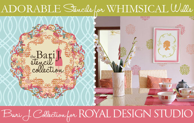 New wall and furniture stencils by Bari J for Royal Design Studio