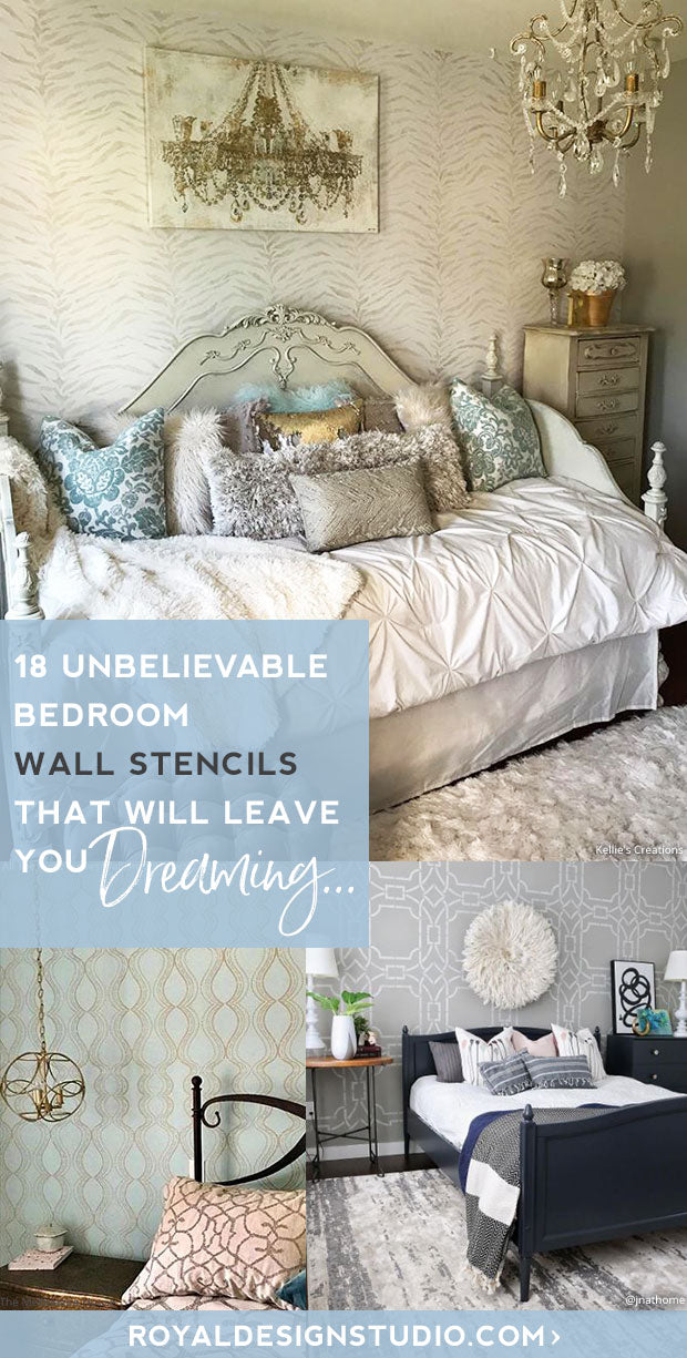 18 Unbelievable Bedroom Wall Stencils That Will Leave You Dreaming Royal Design Studio