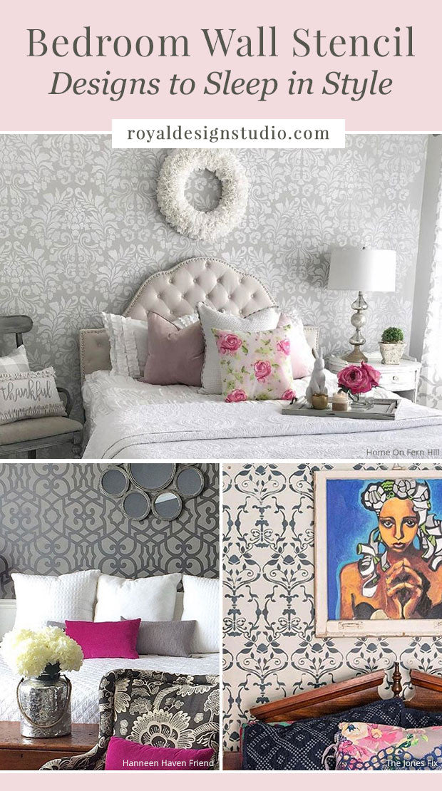 Bedroom Wall Stencil Designs to Sleep in Style - DIY Decor Ideas for Painting Wall Designs - Royal Design Studio