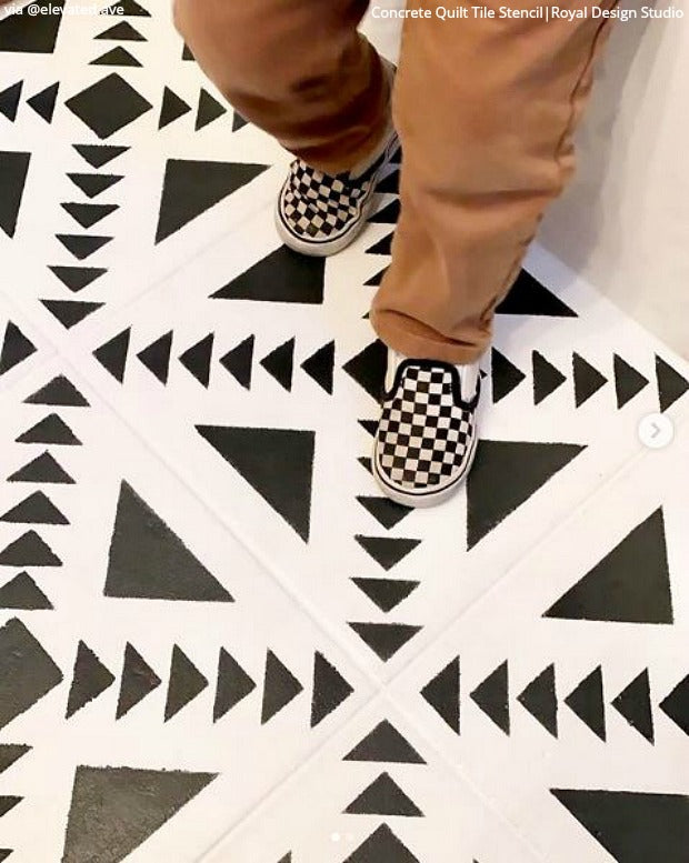 DIY Ideas for New Decor! Wall Painting Stencils, Paint Floor Stencils, Decorative Tile Stencils, Furniture Stencils - Instagram Inspiration - royaldesignstudio.com