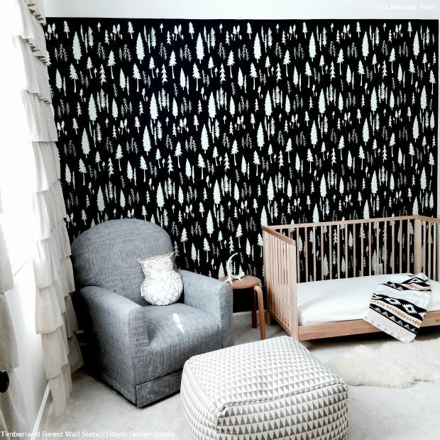 Black And White Re Imagined Stencils For Painting Diy Decor Royal Design Studio Stencils