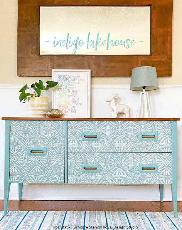 Found on Instagram: The Best DIY Projects with Stencils from Royal Design Studio - Wall Stencils, Floor Stencils, Furniture Stencils for Painting Home Decor