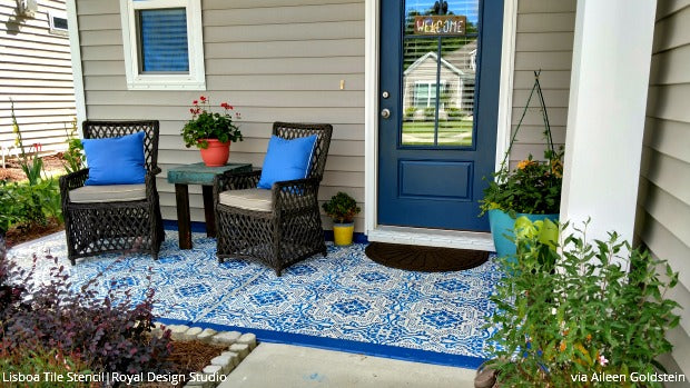 DIY Decorating Ideas For Stenciling A Porch Or Patio Floor Design Beauteous Designs For Backyard Patios Painting