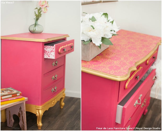 Exceptionnel Fresh New Hue For Home Decorating: Stencil Ideas For Pink Interiors From  Subtle To Sensational