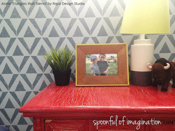 9 Boys' Bedroom Ideas using Furniture & Wall Stencils from Royal Design Studio