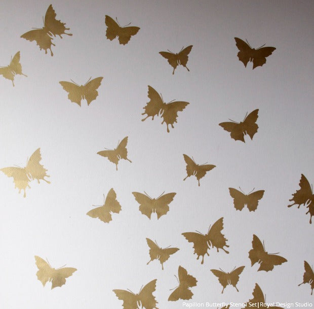 Soar into Style: How to Stencil Butterfly Wall Art - Royal Design Studio Stencil Tutorial