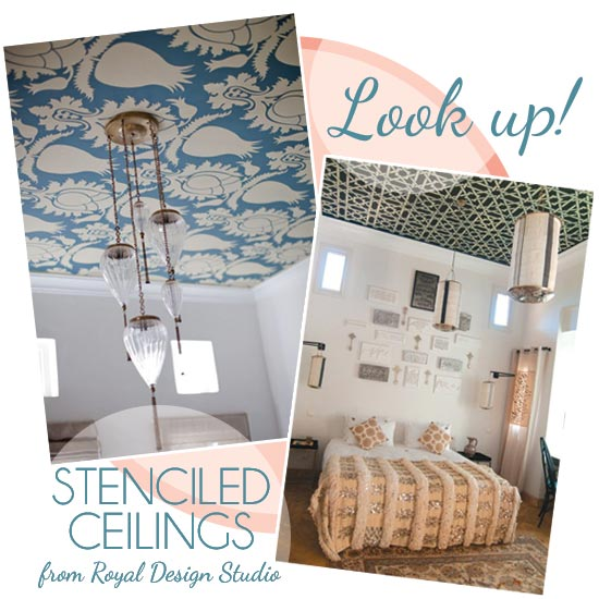 Ceiling stencil ideas from Royal Design Studio