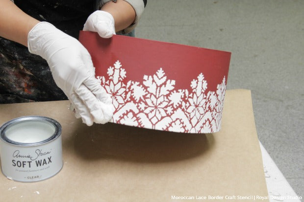 How To Decorate & Stencil DIY Christmas Gift Boxes with Holiday Craft Stencils