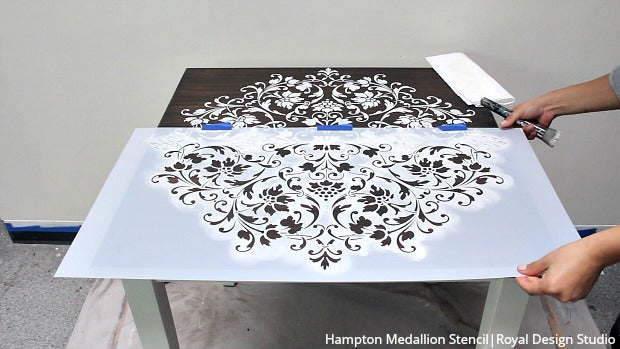 VIDEO Tutorial   Painted Wood Table Makeover With A Large Mandala Stencil  Design And Chalk Paint