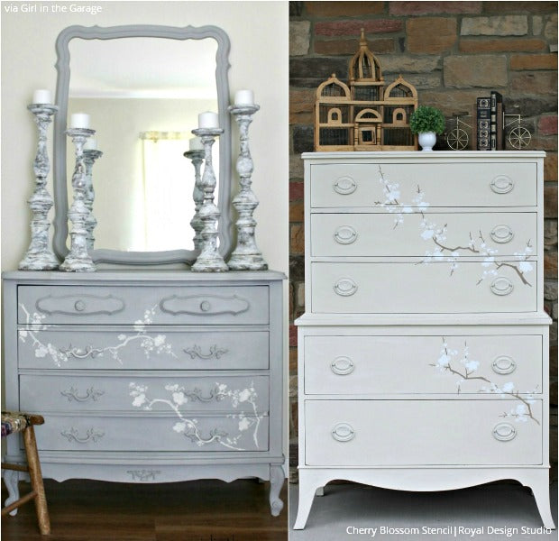 15 DIY Home Decor Ideas: Painting Large Furniture Stencils Upcycling Projects
