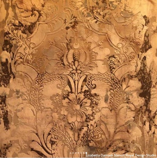 Jaw-Dropping Wall Plaster Finishes with Large Wall Stencils & NovaColor - royaldesignstudio.com