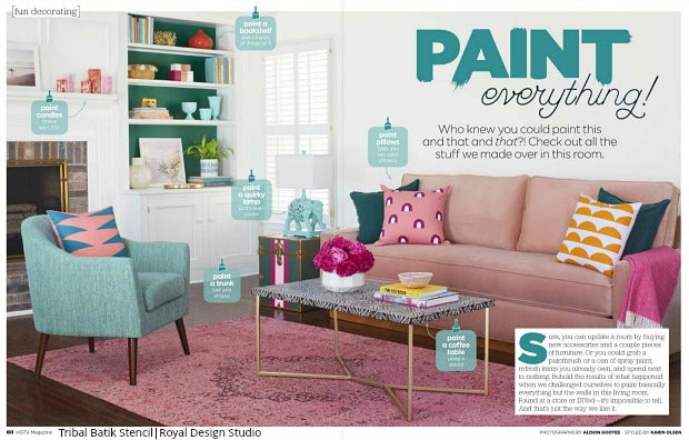 HGTV Says Paint Everything with Royal Design Studio Stencils!
