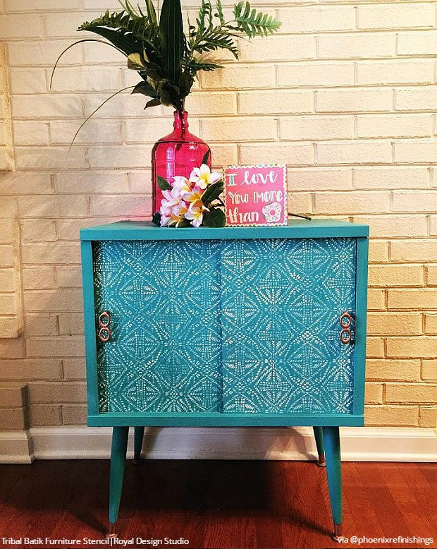 DIY Decor Painting Ideas   Finishing Furniture Touches With Stencil Designs    Royal Design Studio
