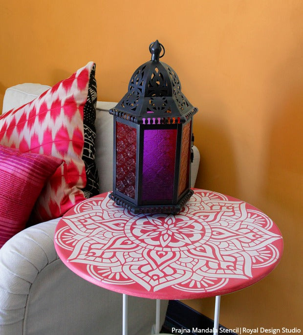 Top 3 Mandala Decorating and Stencil Ideas for DIY Home Decorating Projects [with VIDEO Tutorials!] - Royal Design Studio Stencils