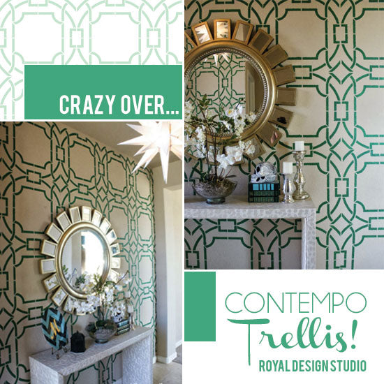 Contempo Trellis Stencil from Royal Design Studio