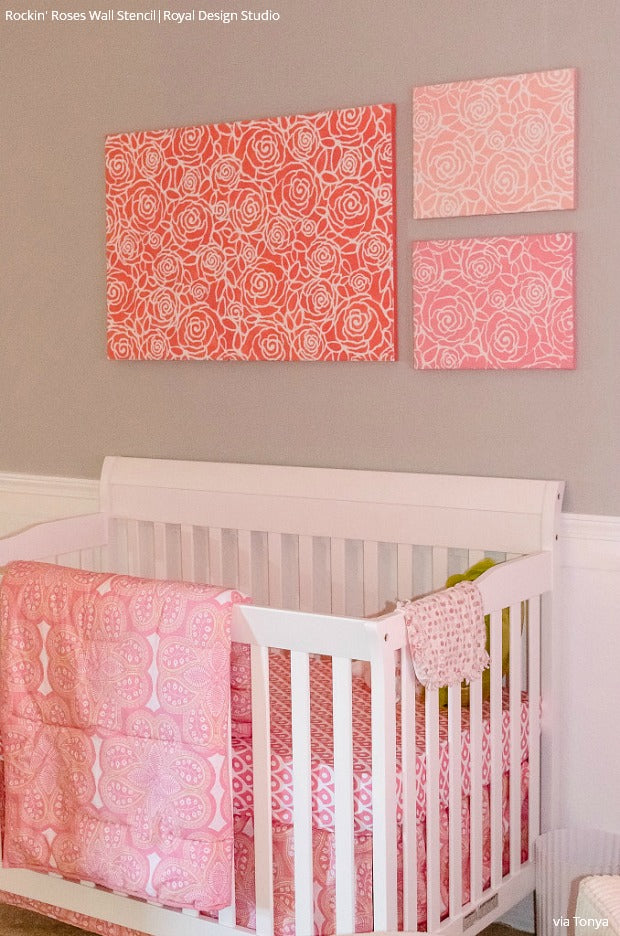 11 DIY Baby Nursery Decor & Decorating Ideas: Get the Project Nursery Look with Wall Stencils from Royal Design Studio