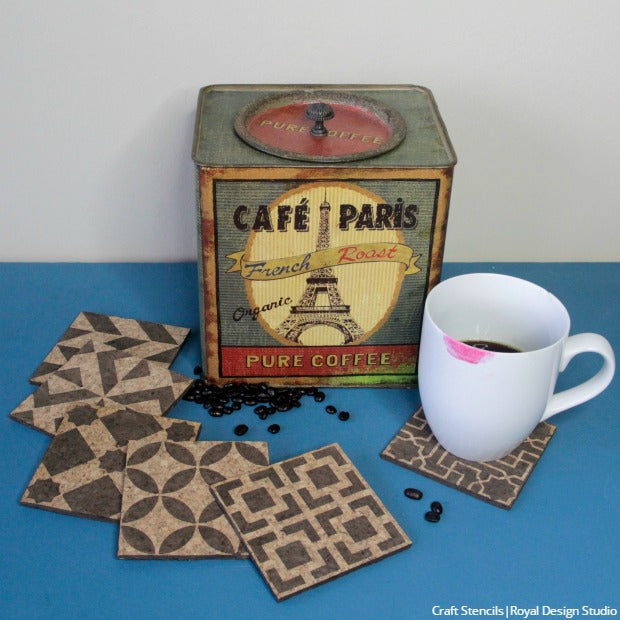and heres a couple more cork decor ideas you can create diy cork coasters with our craft stencils and a cork board for your office notes with our - Cork Cafe Decor