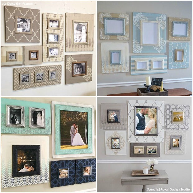 Trendy Paint Projects and Stencil Ideas to Do with DIY Picture Frames - Royal Design Studio