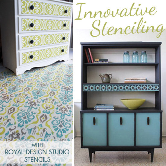 Innovative Furniture Stencil Ideas with Royal Design Studio Stencils