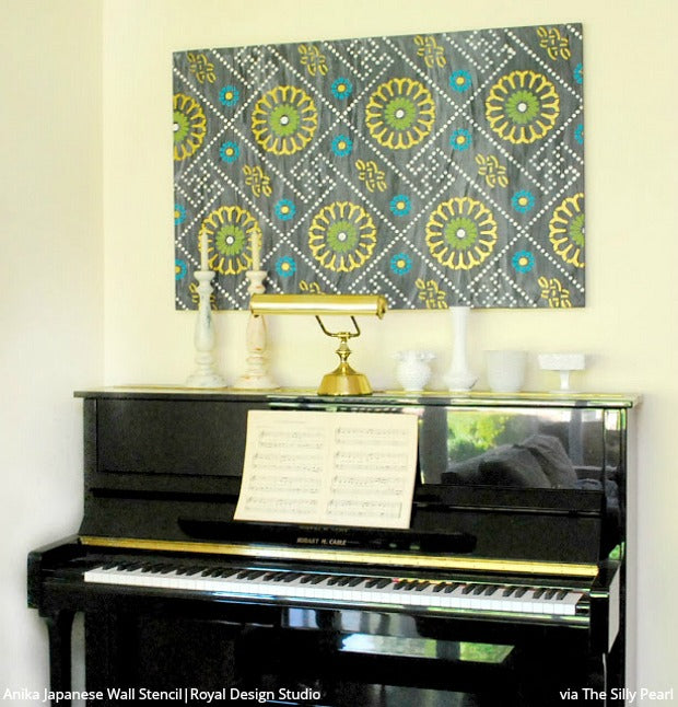 Do It Yourself: 16 Stenciled Wall Art Ideas using Custom Wall Pattern Stencils for Painting Home Decor