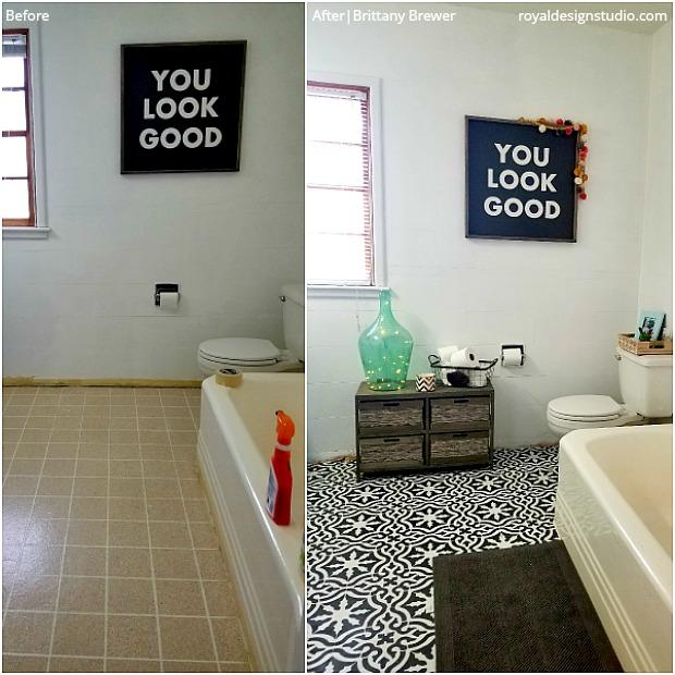 14 Reasons Floor Stencils Are Better Than Bathroom Tiles
