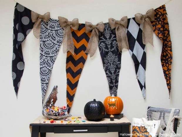 Terror-ific Halloween Stencil Projects & Decorating Ideas