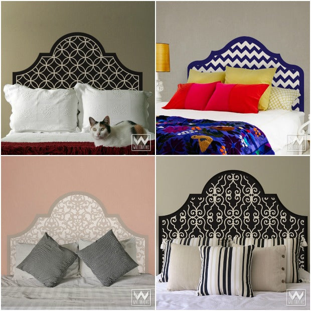 6 DIY Stenciled Headboard Ideas for Your Easy Bedroom Makeover