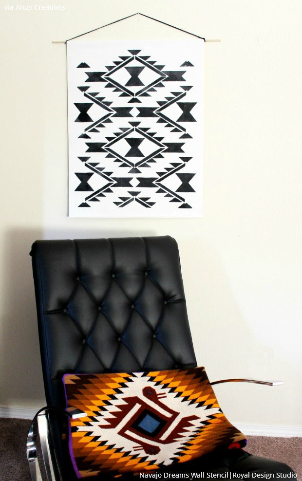 Stenciling with Southwest Style - Royal Design Studio Stencils and DIY Decor Ideas