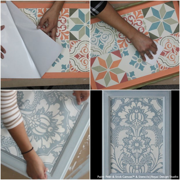 5 Easy Stencil Ideas with Paint, Peel & Stick Canvas from Royal Design Studio