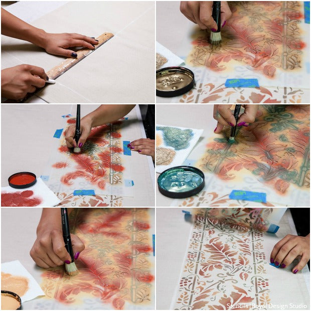 DIY Thanksgiving Stencil Tutorials to Fall For - Royal Design Studio Holiday Craft Stencils