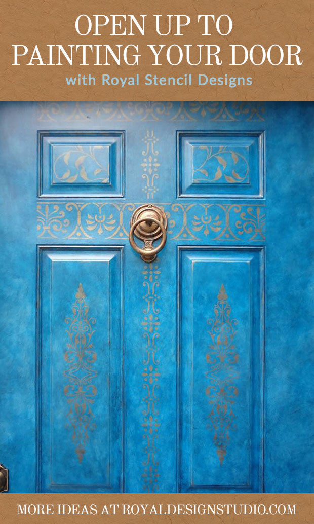 Paint Your Door With Stencil Designs Diy Home Decorating Ideas Royal Design Studio Stencils