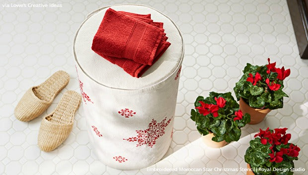 3 DIY Christmas Stencil Project Ideas from Lowe's Creative Ideas and Royal Design Studio