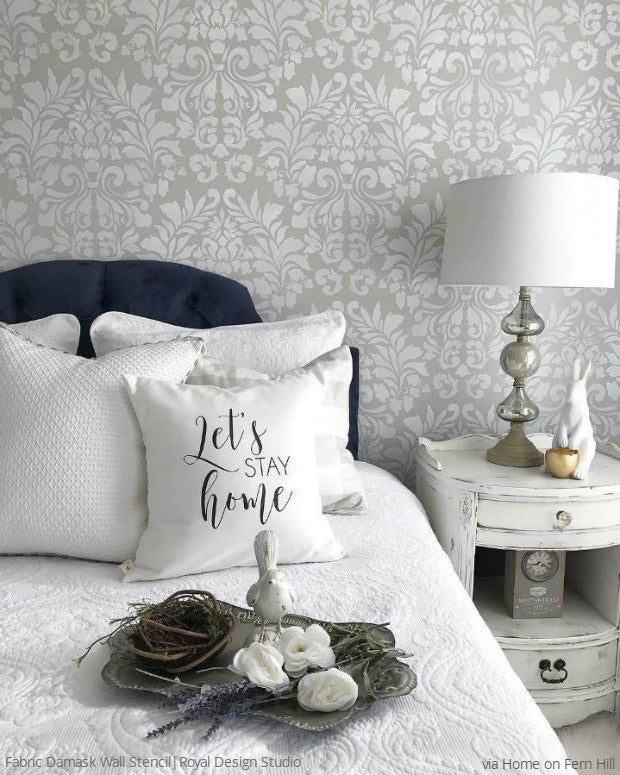 delightful Stencils For Bedrooms Part - 1: Bedroom Wall Stencil Designs to Sleep in Style - DIY Decor Ideas for  Painting Wall Designs