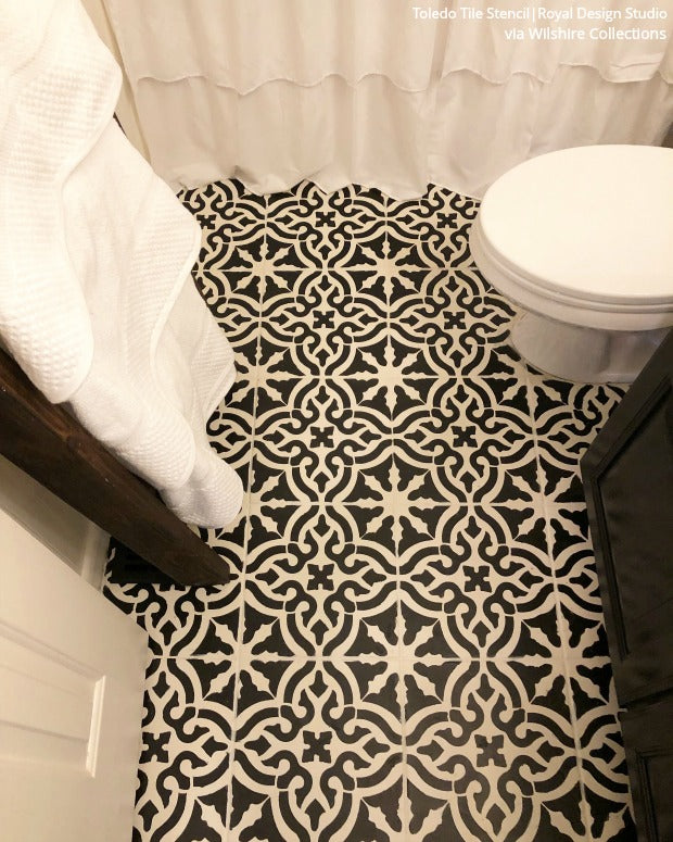 The DIY Renovation Hack That Will Save You $1000s: Bathroom Tile Floor Stencils