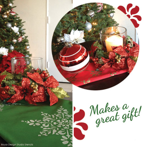Make a great holiday gift with stenciled table runners | Royal Design Studio
