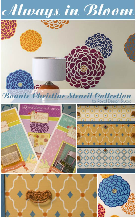Stencil a feature wall and furniture with adorable stencils from Royal Design Studio. Click the pic for details!