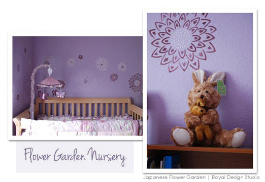 wall stencils in a nursery