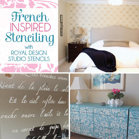 French-Inspired Stencil Inspiration from Royal Design Studio