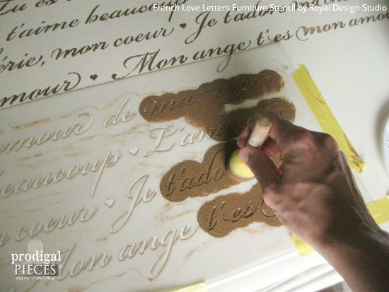 Stenciled Vanity Tutorial: From Curbside Trash to French Treasure