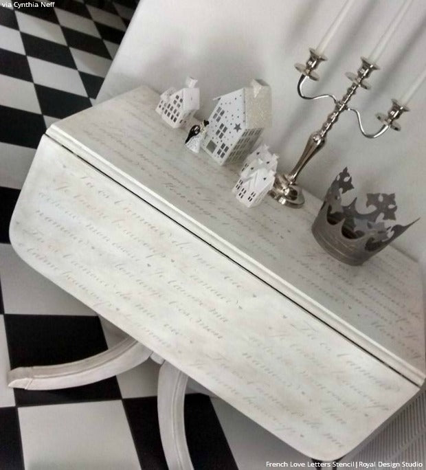 White Haute Home Decor Trend: 10 Stenciled Walls and Furniture Ideas using Royal Design Studio Stencils
