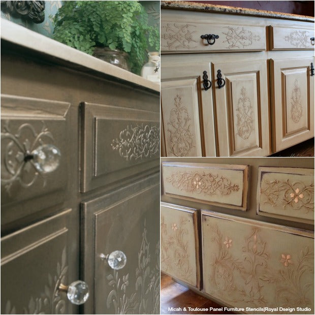 furniture_stencils_cabinet_doors_makeover Painted Kitchen Cabinet Doors Ideas on painted windows ideas, painted cabinet design ideas, painted backsplash ideas, painted wood ideas, painted furniture ideas, painted flooring ideas, painted mirrors ideas, painted shelves ideas,