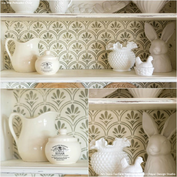 How to Paint a Shabby Chic Bookcase with Furniture Stencils & Chalk Paint