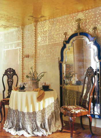 gilded stenciled walls