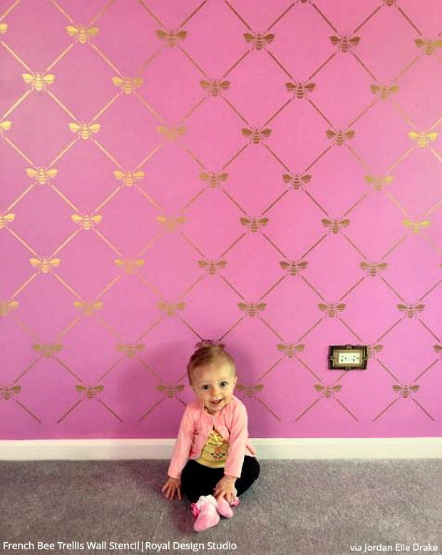 The Cutest Baby Nurseries & Kids Rooms Ever! Home Decorating DIY Ideas using Wall Stencils from Royal Design Studio