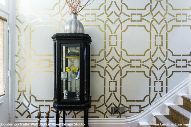 HGTV Features Royal Design Studio Stencils! Easy and Affordable DIY Projects using Wall Stencils, Floor Stencils, Furniture Stencils, and Craft Stencils - DIY Painting Home Decor Ideas