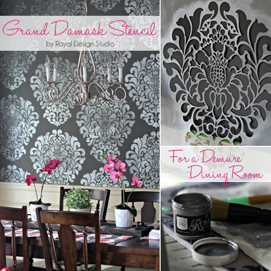 Stencil Ideas for Dramatic Dining Rooms