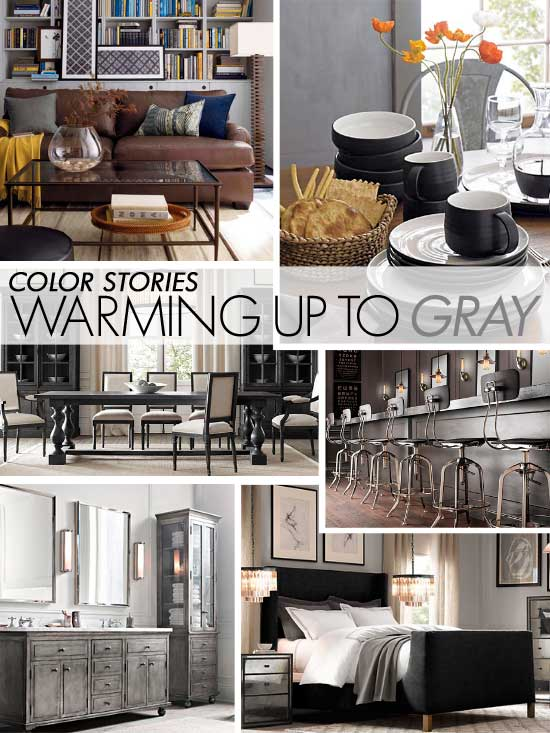 Gray color trend for stenciling walls and furniture