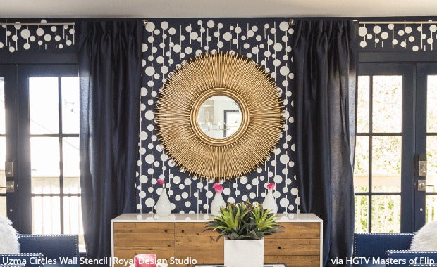 Large Wall Pattern Stencils Hgtv Masters Of Flip