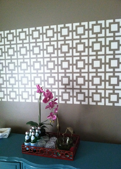 wall stencils panels with hollywood squares