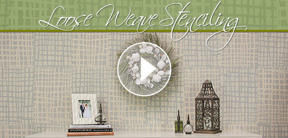 How to Stencil a Tone on Tone Color Accent Wall with Texture Stencils Video Tutorial